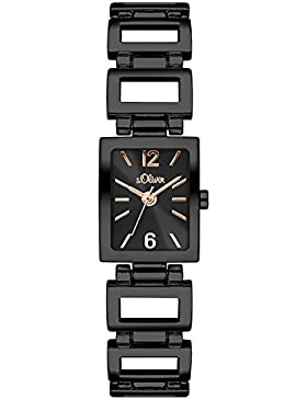 s.Oliver Damen-Armbanduhr Color Clash Analog Quarz Alloy SO-3065-MQ