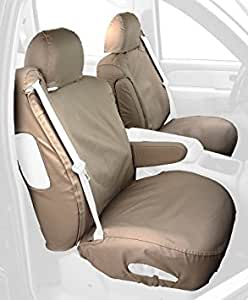 Taupe : Covercraft Custom-Fit Front Bucket SeatSaver Seat Covers - Polycotton Fabric, Taupe
