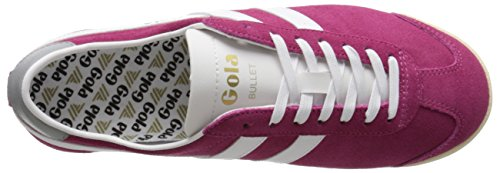 Gola Bullet Suede, Sneakers basses femme Rose - Pink (Hot Fuchsia/White)