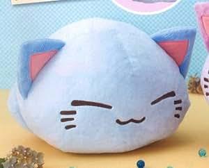 Furyu Nemuneko Grande peluche chat endormi Bleu clair 35 cm