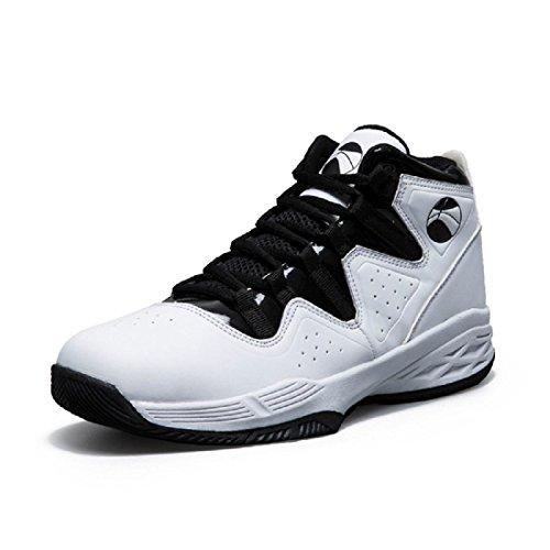 Hombre Otoño Invierno Los Nuevos Zapatos De Baloncesto Antideslizantes Transpirables Outdoor Sports Shoes Trainers Euro Tamaño 39-44 Blanco