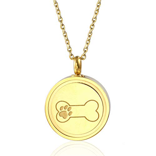 für Haustiere, Knochenform, Gebetskreuz, Urnenanhänger für Asche - Gold ()