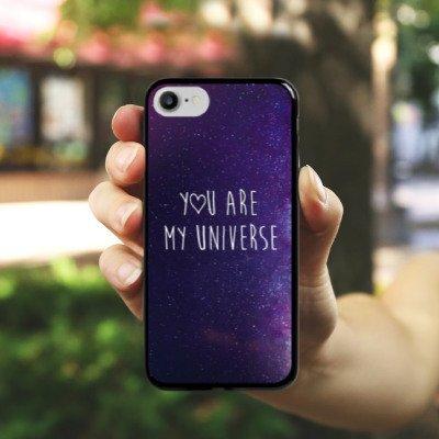 Apple iPhone X Silikon Hülle Case Schutzhülle Spruch Liebe Freundschaft Hard Case schwarz