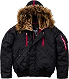 Alpha Industries Herren Jacke Mantel PPS N2B, L, Black/Red