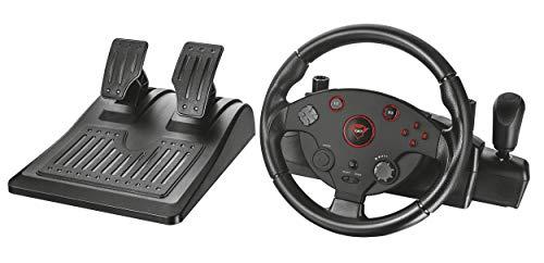Trust GXT 288 Gaming Lenkrad mit Fußpedale (Vibration-Feedback, 270 Grad Lenkeinschlag, Schalthebel, X-input Mode, geeignet für PC/PS3) schwarz