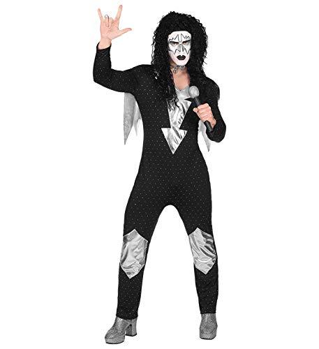 Panelize Rocker Hardrock Heavy Metal Kostüm mit Perücke und aufblasbarer Perücke (L)