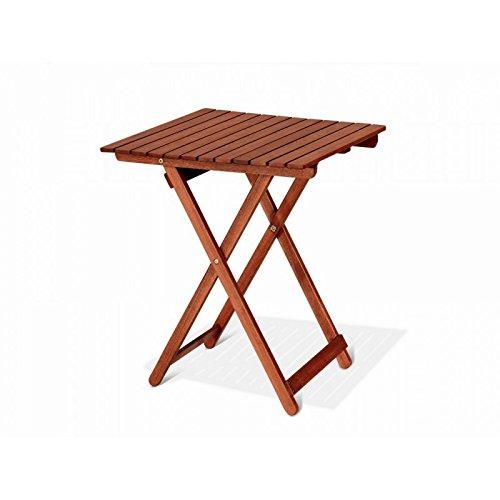 Table carrée pliante 60 x 60 x 72 Table de jardin mod.Chèvrefeuille en bois de keruing à transformation artisanale, table de bois dur usage extérieur, table en Keruing, table pliante de jardin.