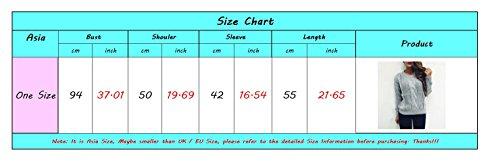 Zoom IMG-2 lvrao donna manica lunga girocollo
