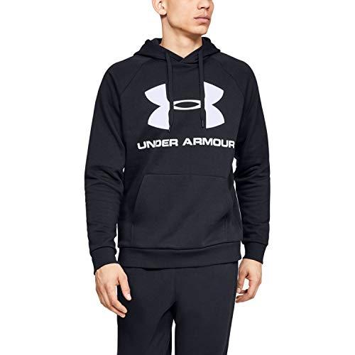 Under Armour Rival Fleece Sportstyle Logo Haut Homme, Noir, FR : L (Taille Fabricant : LG)