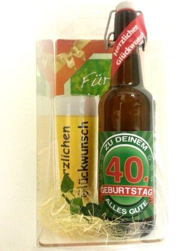 Bierset zum 40. Geburtstag