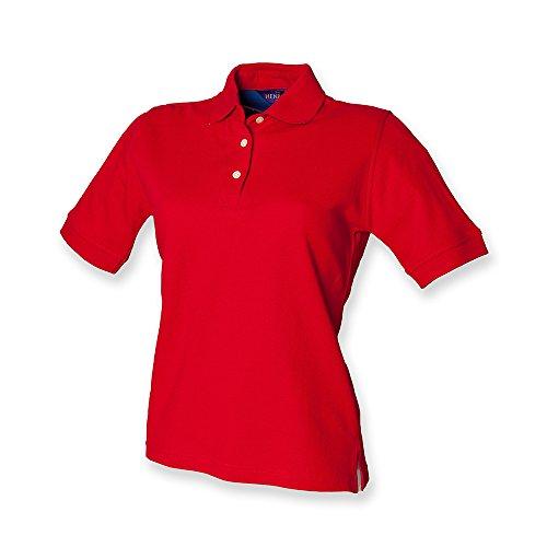 Henbury, polo da donna classica in piqué Rosso (Classic red)
