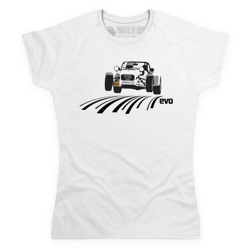 evo R500 Sports Car T-Shirt, Damen Wei