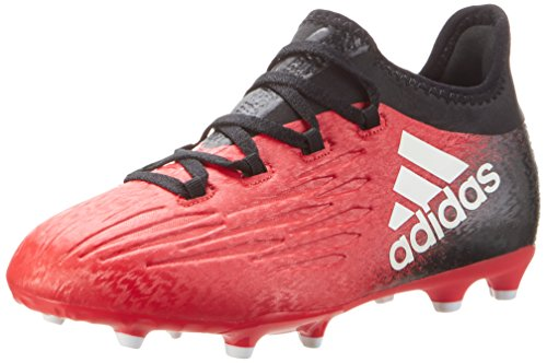 adidas X 16.1 Fg J, Scarpe da Calcio Bambino Rosso (Redfootwear Whitecore Black)