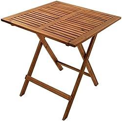 SAM Gartentisch Camelia, 70x70 cm, Balkontisch aus Akazienholz, klappbar, FSC Zertifiziert