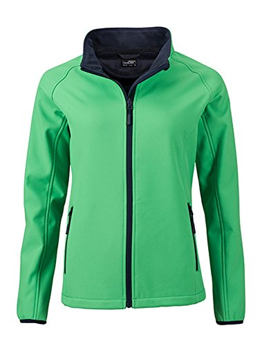 Ladies` Promo Softshell Jacket, Größe:M, Farbe:Green-Navy Womens Gefütterte Regen Jacke