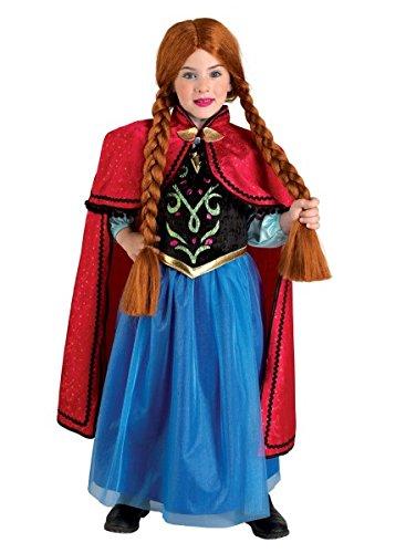 Premium Prinzessin-Kleid für Mädchen – Eisprinzessin Anna – Karnevals-Kostüm für 3-12 Jahre – top Qualität – Die schönste Prinzessin an Karneval, Fasching, Fastnacht (Größe:104) (Von Am Den Besten Golden Girls)