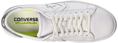 Converse Pl Lp Ox, Sneaker a Collo Basso Donna Bianco (White/Silver/White)