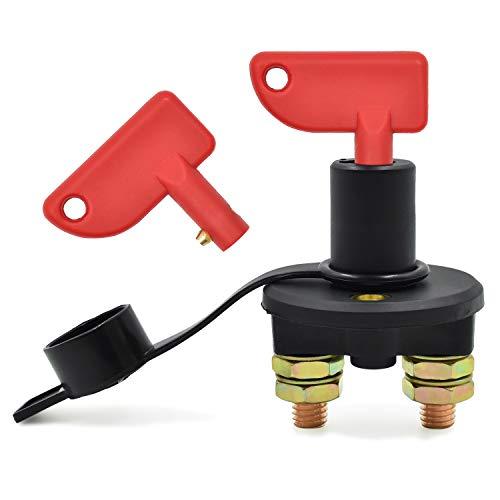 NATEE Batterieschalter/Batterie Trennschalter/Hauptstromschalter, 2 Polig Ein- / Ausschalter Kill Switch für Fahrzeug Boot Auto Kfz
