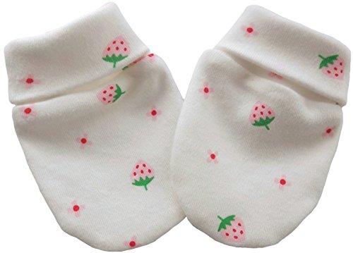 Coton Bio naissance anti Scratch Moufles Multi Couleur Fraises Multi Color 6-12 mois