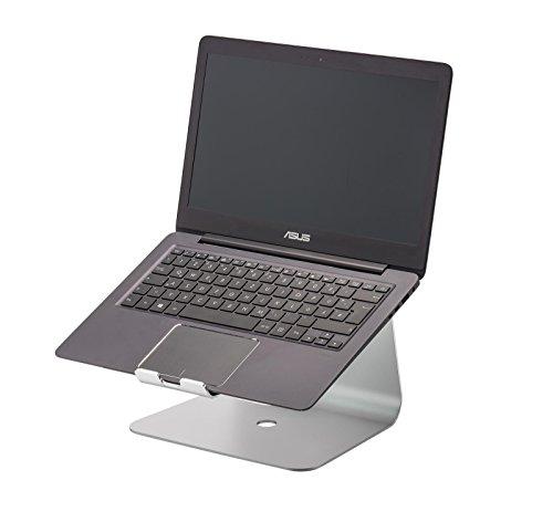 STANDWERT Premium Universal Notebook Halterung Laptopständer (ergonomisch erhöht) für Lenovo Thinkpad T470 / T570 Notebooks Netbooks Laptop etc. aus Aluminium - silber