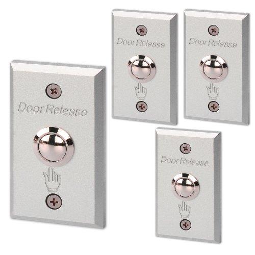 Generic rechteckig aus Aluminiumlegierung mit Push Button Switch Gardinenschal Exit kein Ablösen Tür für elektrische (4 Stück) Schloss