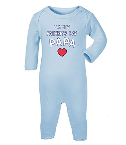 Happy Baby-strampelanzug (Green Turtle T-Shirts Happy Father's Day Papa - Vatertagspräsent Baby Strampler Strampelanzug 3-6 Monate (60/66) Hellblau)