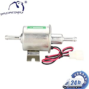 Dromedary 12V Universal Elektrische Kraftstoffpumpe Benzinpumpe HEP-02A Silber