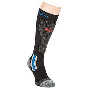 Ultrasport Advanced Kompressions Ski- Wintersport Thermo Socken mit Wolle und Thermolite, anatomomische Form mit Knöchel- und Schienbeinschutz, Lintoe-Naht und weichem Beinabschluss