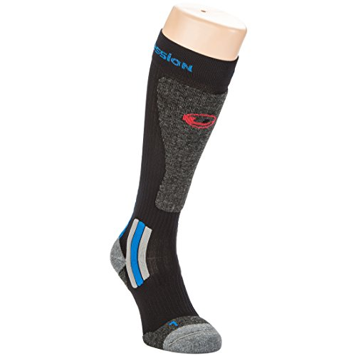 Ultrasport Ski Socken Thermo, Schwarz/Grau/Blau, 39-42, 1353-200/160-39/42