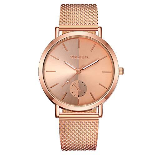 (YEARNLY Mode Klassisch Unisex Damenuhren Herrenuhren PU Lederband/Legierung Uhrenarmband Armbanduhren für Männer Frauen)