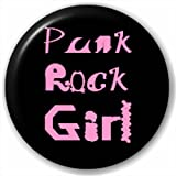 Small 25mm Lapel Pin Button Badge Novelty Punk Rock Girl