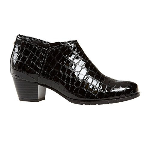 Van Dal Shoes Womens Butler Boots in Black Croc Print