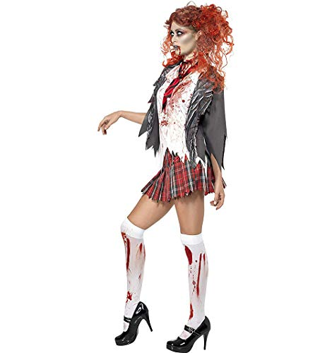 TIANMIAOTIAN Halloween Disfraz De Colegiala Zombi
