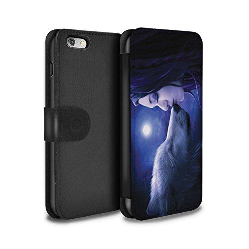 Officiel Elena Dudina Coque/Etui/Housse Cuir PU Case/Cover pour Apple iPhone 6S / Balançoire Étang Design / Un avec la Nature Collection Baiser de Lune