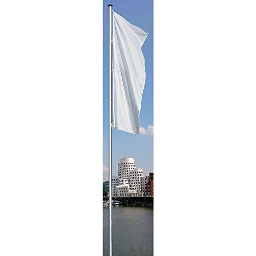 Mannus Fahnenmast aus eloxiertem Aluminium - mit Spezialkurbel, Ø 100 mm, ohne drehbaren Ausleger - Höhe über Flur 10 m - drapeau drapeaux mât mât de drapeau mât de pavoisement mâts mâts de drapeaux mâts de pavoisement pavillon pavillons Mât Mât de