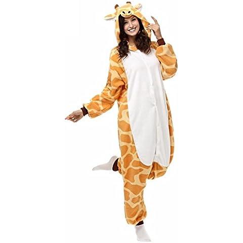 TuTu@ Kigurumi pigiama giraffa Leotard/tutina Halloween animale pigiameria giallo Patchwork Polar Fleece Kigurumi UnisexHalloween / Natale