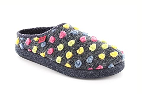 Chaussons Alpino en feutre points Multicolores.41