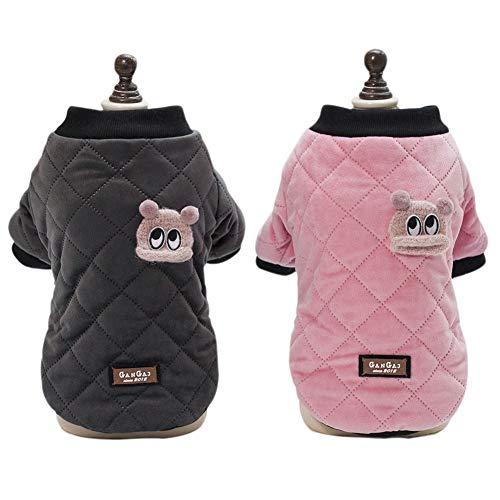 Handfly Hundekleidung Für Kleine Hunde Haustier Warmer Herbst Winter Jacke Kleidung Hundemantel Rosa Schwarz - Hunde Winter Pet-kleidung Kleine Für