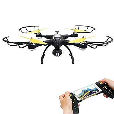 PowerLead GV1804 FPV Wifi RC Quadcopter Remote Control Drone Quadcopter One Key Return Helicopter with HD 2MPP Camera RC Drone