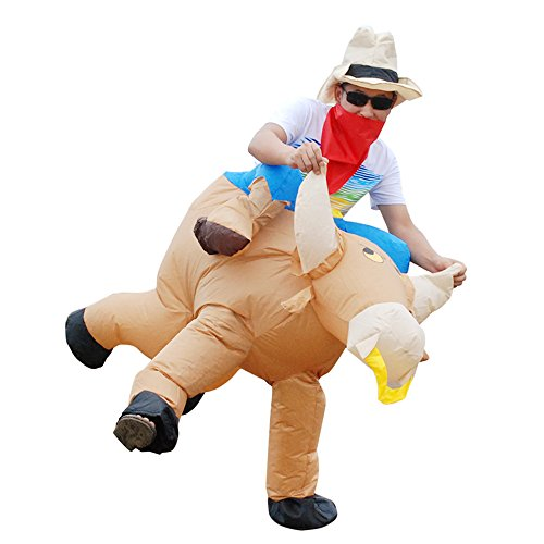 Anself Kinder Aufblasbares Kostüm Rind Cosplay für Fasching (Kind Kostüm Aufblasbares)