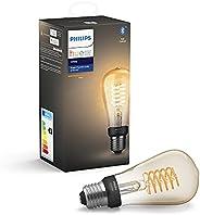 Philips Hue White Filament LED Glödlampa med Bluetooth, Alexa och Google Assistant, genomskinlig, 8 W