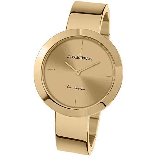 Jacques Lemans Women's La Passion 37mm IP Steel Bracelet Quartz Watch 1-2031K