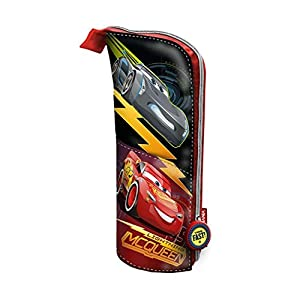 Cars 3 Estuche portatodo Vertical, Color Rojo, 21 cm (Karactermanía 32500)