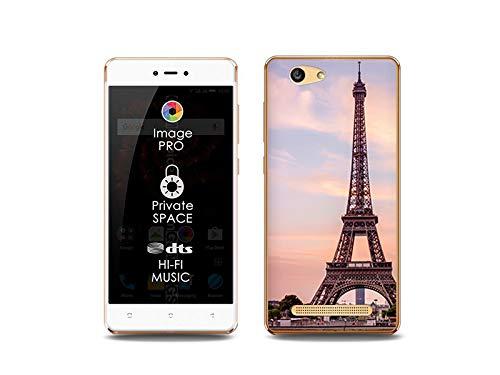 etuo Handyhülle für Allview X3 Soul Lite - Hülle, Silikon, Gummi Schutzhülle Foto Case - Eiffelturm in Paris