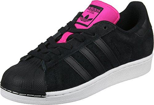adidas Damen Superstar W Turnschuhe, Black (Negbas/Negbas/Rosimp), 38 2/3 EU (Adidas Damen Frühling)