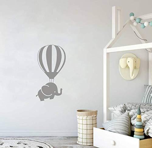 er Nette Heißluftballon Elefanten Wandtattoos Für Kinderzimmer Baby Jungen Schlafzimmer Dekoration ()