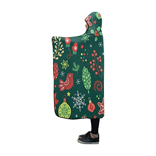 JOCHUAN Mit Kapuze Decke Weihnachten Tanne Baum Handschuhe Decke 60 x 50 Zoll Comfotable Mit Kapuze werfen Wrap