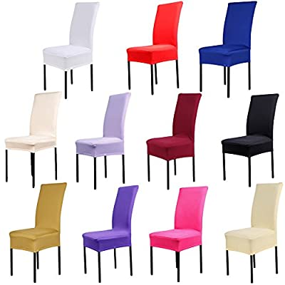 Chair Cover Stretch Elastic Chair Covers Dining Chair Slipcovers - cheap UK light shop.