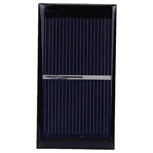 2pcs / Set 0.3W 0.5V Mini Pannello Solare Piccolo Modulo Pannello Solare Portatile al Silicio Policristallino per All'Aperto
