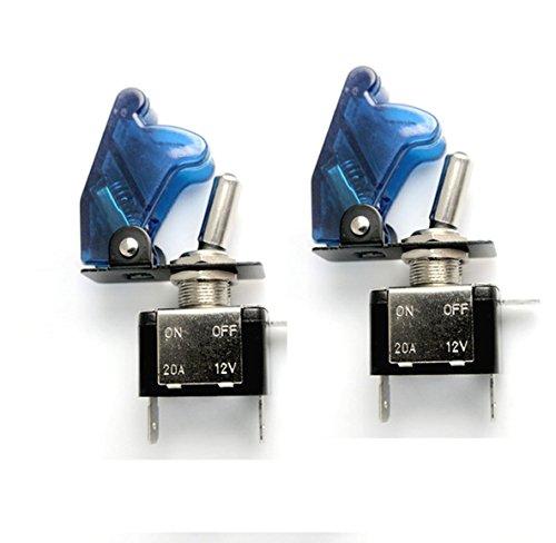 Preisvergleich Produktbild HOTSYSTEM 2x 12V 20A Auto KFZ Schalter SPST Wippschalter Ein / Ausschalter LED Anzeige Wechsel Switch Kippenschalter Blau